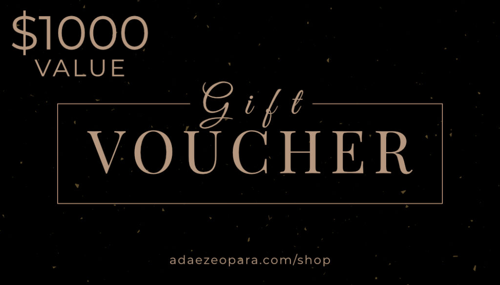 A $1000 gift voucher towards portraits, a great gift idea for your wife on mother's day